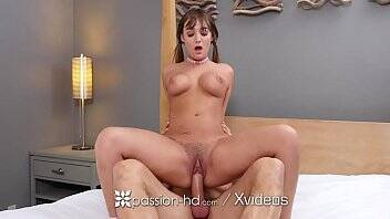 PASSION-HD Cum tasting expert busty brunette Charlotte Cross fucked