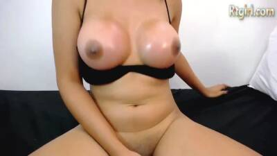 slim asian shemale cutie with big tits teases on webcam