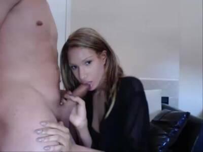Shemale Latina Blows Her Boyfriend