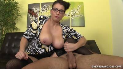 Mommy Lady With Man Milk On Her Big Juggs - Stacie Starr