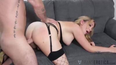 TRANSEROTICA Busty Trans Angelina Please Anal Banged Hard