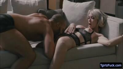 Pretty Big Assed Tgirl Aubrey Kate Hard Interracial Anal Sex