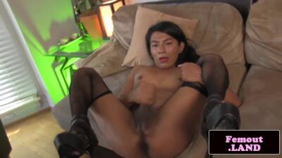 Beauty Plays With Her Ass And Cock
