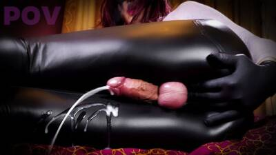 Extreme Shemale Cock CLOSEUP and POV - Suck my sissy clitty and listen to my dirty talking JOI