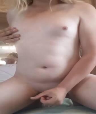 Big dick tgirl masturbating