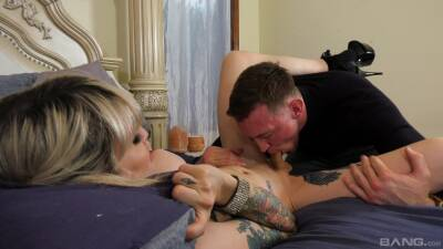 Dashing blonde shemale in dirty anal kink